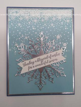 Stampin Up Snow Is Glistening Christmas Card Sneak Peek Creative